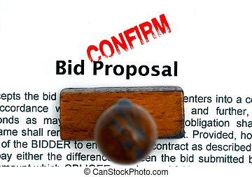 Bid proposal confirm