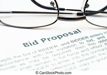 Bid proposal form