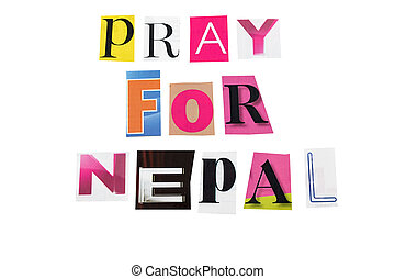 bidden staande, nepal