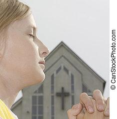 biddend, tiener