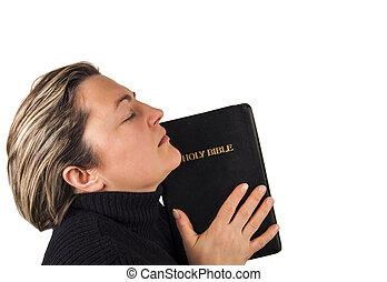 biddend, vrouwenholding, bijbel