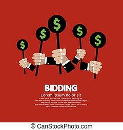 Bidding or Auction Concept. - Bidding or Auction Concept...