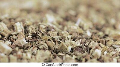 Bidens tripartita in bulk dry grass in bulk dry in slices