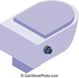 Bidet icon, isometric style - Bidet icon. Isometric of bidet...
