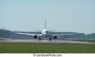 bieżnia, -, samolot, hd, 1080