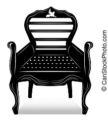 Biedermeier style Chair with rich ornaments