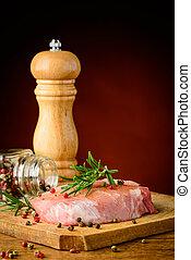 biefstuk, en, kruiden