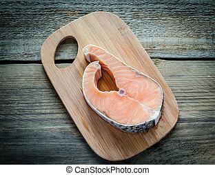 biefstuk, salmon