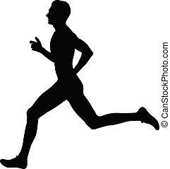 biegacz, atleta, wyścigi, człowiek