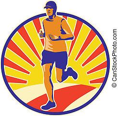 biegacz, atleta, wyścigi, maraton