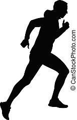 biegacz, uciążliwy, bieg samczyk