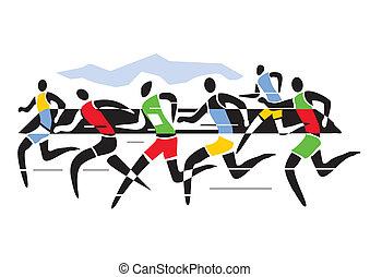 biegacze, maraton
