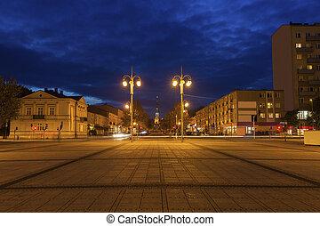 Bieganski Square in Czestochowa