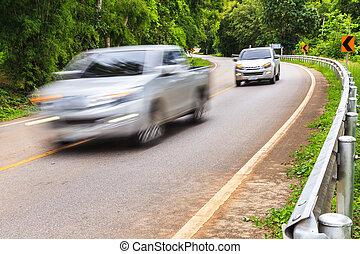 biegende straße, autos