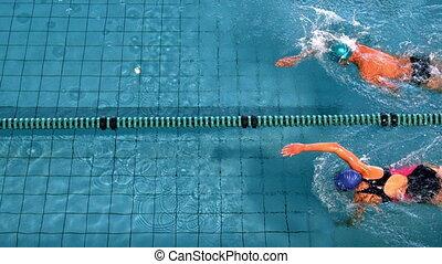 biegi, atak, pływacki, pływaczki