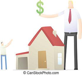 bienes raíces, aumentos, agente, credito, tasa