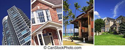 bienes raíces, collage