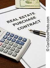 bienes raíces, compra, contrato