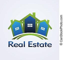 bienes raíces, concepto, diseño