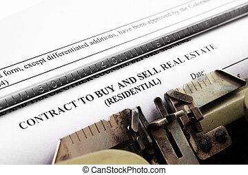 bienes raíces, contrato