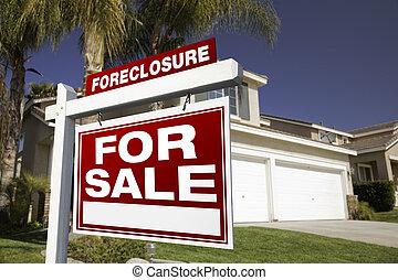 bienes raíces, ejecución hipoteca, casa, muestra de la venta
