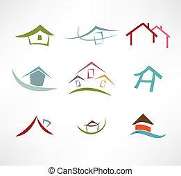 bienes raíces, icono