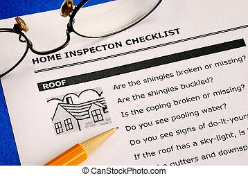 bienes raíces, inspección, lista de verificación