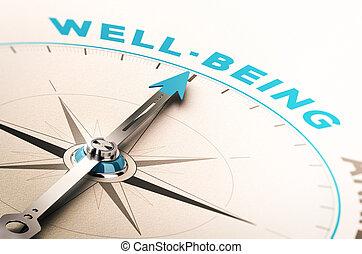 bienestar, o, salud