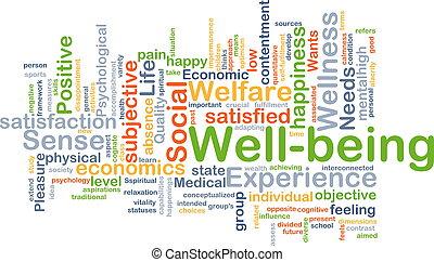 bienestar, plano de fondo, concepto