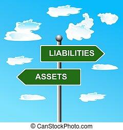 biens, liabilities, deux, route, manière