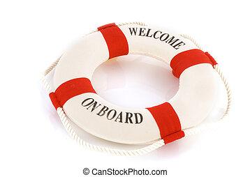 bienvenida, a bordo