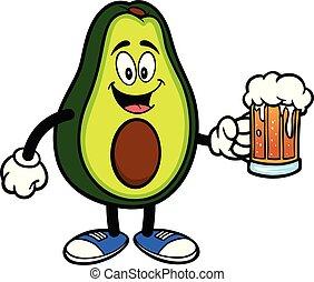 bier, avocado, mascotte