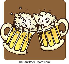 bier, becher