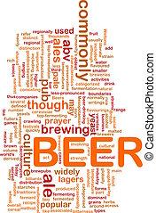 bier, begriff, hintergrund, getränk