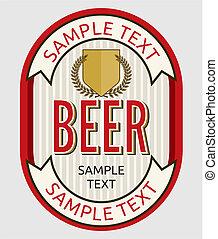 bier, etiket