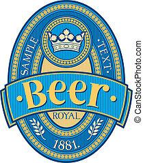 bier, etiket, ontwerp