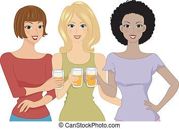 bier, mädels