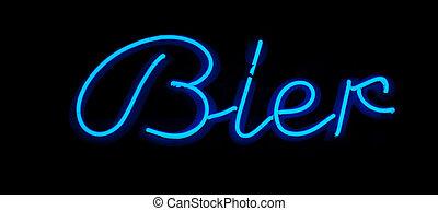 Bier neon sign
