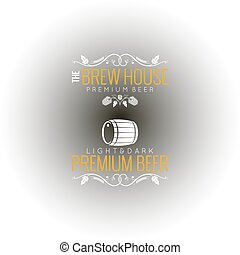 bier, set, achtergrond, etiket