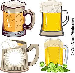 bier, set, mokken