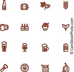 bier, set, pictogram