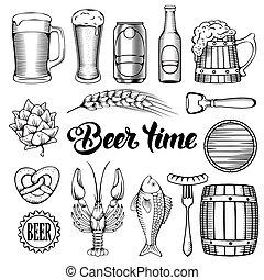 bier, snack