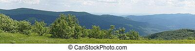 Bieszczady mountains - panorama/ panoramic photograph