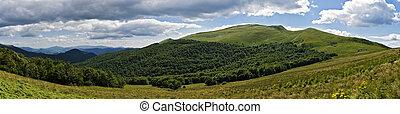 Bieszczady mountains panoramic