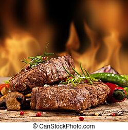 bife, carne