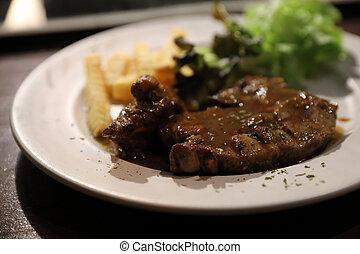 biff, nötkött, restaurang
