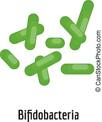 Bifidobacteria icon, cartoon style.