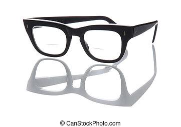 Bifocals - Old geeky style bifocal spectacles.