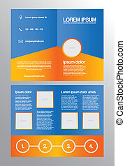 bifold, folleto, empresa / negocio, plantilla