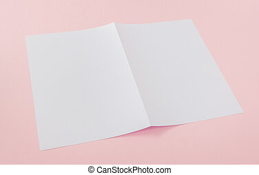 Bifold white template paper